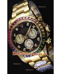 Rolex Cosmograph Daytona 116598 Movimiento Original Cal.4130 - Réplica a Espejo 1:1 Reloj de Acero 904L Mejorado y Actualizado Oro Amarillo