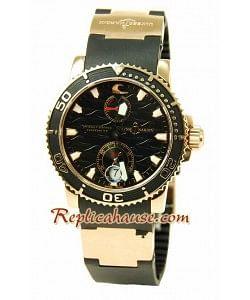 Ulysse Nardin Maxi Marine Chronometer Reloj Suizo de imitación