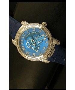 Ulysse Nardin Dual Escapement Reloj Japonés Dial Azul