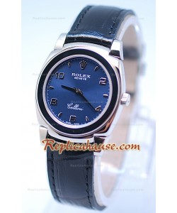 Rolex Celleni Cestello Reloj Suizo Señoras Todo Azul
